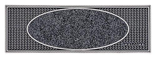 PUR|CenterClean schmale Design Fussmatte für Innen und Aussen in anthrazit metallic ca. 75 x 25 cm