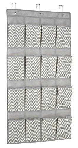 couleur : taupe // /à utilisation multiple mDesign /étag/ère de rangement /à suspendre avec 16 sections parfait comme organiseur de chambre de b/éb/é le meuble de rangement id/éal en tissu