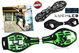 SKATE BOARD WAVE 2 RUOTE WAVEBOARD SKATEBOARD RUOTE LUCI LED...