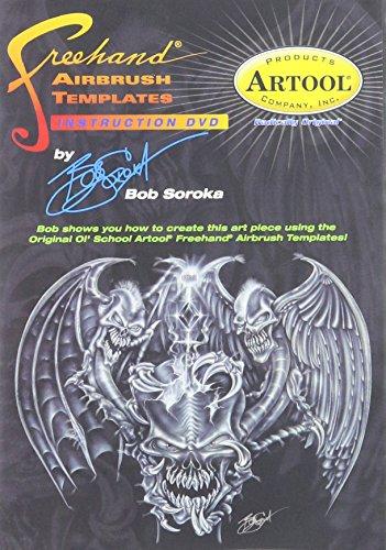 Artool Freehand aerógrafo plantillas Instructional DVD por Bob Soroka 45minutos