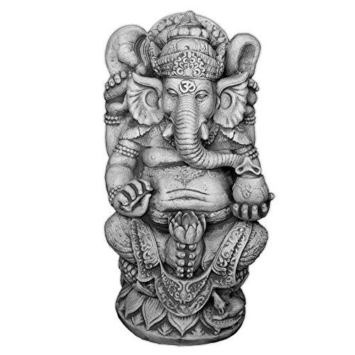 gartendekoparadies.de Massive große Ganesha – der Göttliche Statue Hinduismus Gott Farbe Exclusiv aus Steinguss frostfest