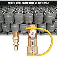 Schnellkupplung Verbinder Küche Erdgas Verbinder Kit 1/4 Propan Erdgas System Schnell Verbinder