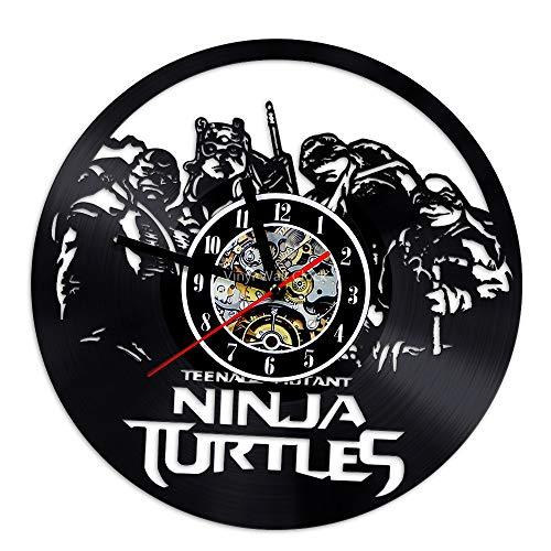 ZhaoManGz Personalisierte große Teenage Mutant Ninja Turtle Gift Vinyl Wanduhr (Turtles Weiblich Ninja)