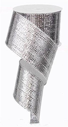 Silber Band mit Draht Metallic Lame Weihnachten (6,3cm X 10Meter) -