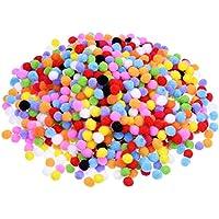 2000 Piezas 8 mm de Pompones para Materiales de Gusto y DIY Decoraciones de Artesanía Creativa, Colores Variados