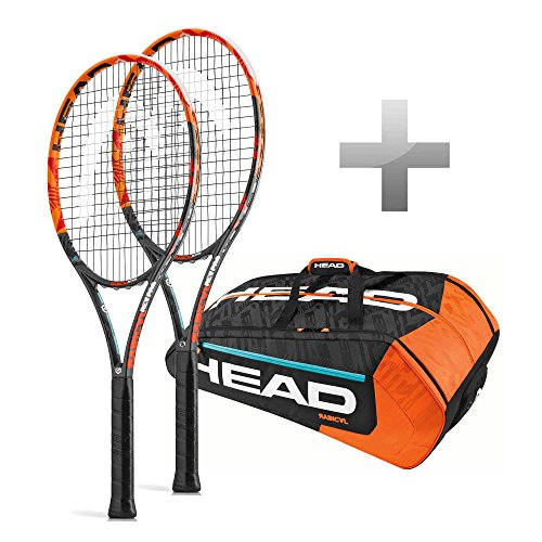 Head Paket 2 x Graphene XT Radical Rev Pro + 1 x MonsterCombi L2 4 1/4 (Head Tennisschläger Radical Pro)