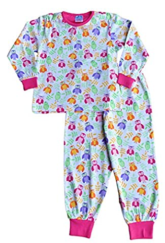 Cute Girl's Long Pyjamas All Over Owl Long Pjs 5 to 11 Years (5-6 Years)