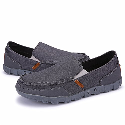 AgeeMi Shoes Herren Erwachsene Slip on Sneaker Herren Sport Walking Schuhe Grau