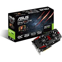 ASUS GTX960-DC2-2GD5-BLACK - Tarjeta gráfica de 2 GB GDDR5 (NVIDIA GeForce GTX 960, PCI Express 3.0, 7010 MHz, HDMI)