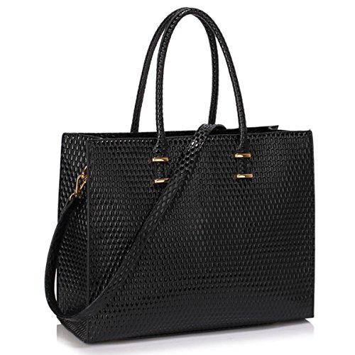 xardi-london-black-embossed-large-women-designer-handbag-faux-patent-leather-ladies-shoulder-tote-la