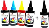 Odyssey Universal Premium Quality for use in HP/ Canon/ Brother/ Samsung Inkjet Printers 100 ML each x 4 CMYK Bottles Multi Color Ink-08