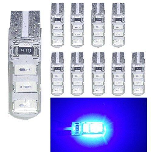 Juego de 10 bombillas de luz LED 501 W5W T10 6-SMD 5630 Ruesious, de alta potencia, color blanco 168 194 2825, para el interior del coche, la matrícula o el maletero