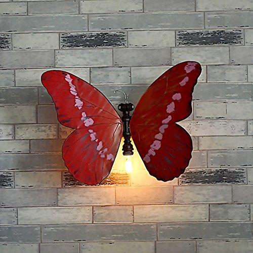 Industrie Europäischen Kreative Schmetterling Modellierung Wandleuchte Bar Internet Café Gang Zimmer Studie Kinderzimmer Wandlampen Metall Wasser Wall light E27 * 1