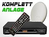 COMAG Digitale HDTV Twin Satelliten-Anlage Komplett-Set SL40HD (Inklusive: HDTV Receiver, Twin LNB, 60er Stahlantenne, Masthalterung)
