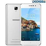 DOOGEE X10S Telephone Portable Debloqué Android 8.1-5.0 Pouces IPS Écran, 3360mAh Batterie, 2MP + 5MP Dual Caméras, 1Go RAM + 8 Go ROM Double SIM Smartphone Pas Cher 3G - Argent