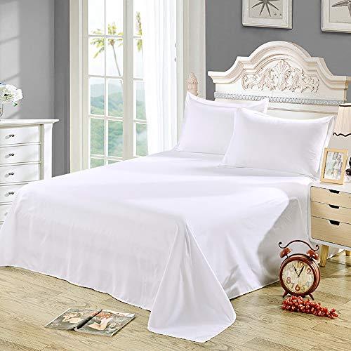 Bettwäsche-Set mit langen Löwen aus ägyptischer Baumwolle, 4-teiliges Set, hohe Fadenzahl, luxuriös, weich, atmungsaktiv, Spannbetttuch, Spannbetttuch, 2 Kissenbezüge, Weiß Full 400 Thread-count -