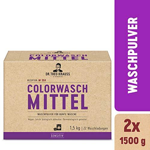 Dr. Theo Krauss Colorwaschmittel, Sensitiv, 44 Waschladungen, 2er Pack (2x 1500g)