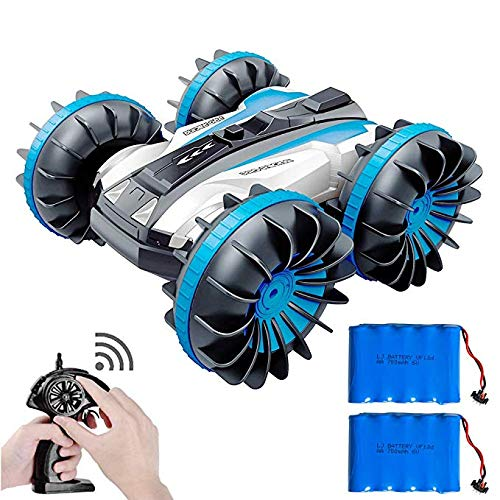 Stunt Remote Control Boat Racing Car 360�Spins/Double Sided/Amphibious Rc Boats 4x4 Off Road Rc Trucks Waterproof Vrhicles for Kids