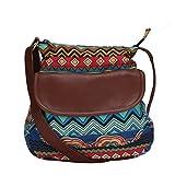 #10: Lychee Bags Women's Sling Bag (Blue, Red, Sky Blue, Yellow, Brown,Lbhbcp20Bl)