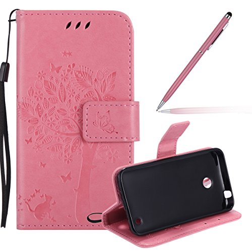nokia-lumia-635-casemicrosoft-lumia-635-wallet-case-leatherfelfy-elegant-butterfly-and-cat-solid-col