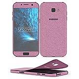 Urcover Samsung Galaxy A5 2017 Glitzer-Folie zum Aufkleben | Folie in Pink | Zubehör Glitzerhülle Handyskin Diamond Funkeln Schutzfolie Handy-schutz Luxus Bling Glamourös