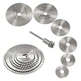 Bluelans® 7pcs HSS Rotary Circular Saw Blades Tool Cutting Discs Mandrel Cutoff Cutter