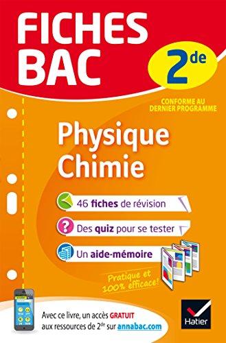 Fiches bac Physique-Chimie 2de : fiches de révision Seconde