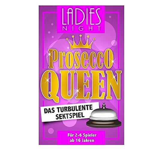 Party Spiel - Spiel Gesellschaftsspiel - Ladies Night - Prosecco Queen - das turbulente Sektspiel (T-shirt Kinder Passiert)