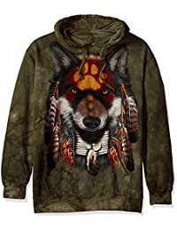 The Mountain Men's Native Wolf Spirit Hooded Sweatshirt