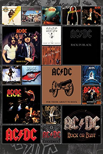 empireposter 745583 AC/DC - Covers - Poster musicale Heavy Metal Hard Rock AC-DC - dimensioni 61 x 91,5 cm, carta, multicolore, 91,5 x 61 x 0,14 cm