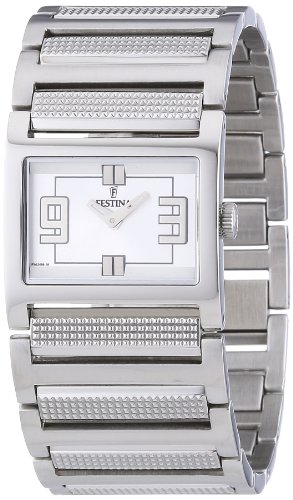 Festina F16359/1 - Reloj analógico de cuarzo para mujer con correa de acero inoxidable, color plateado