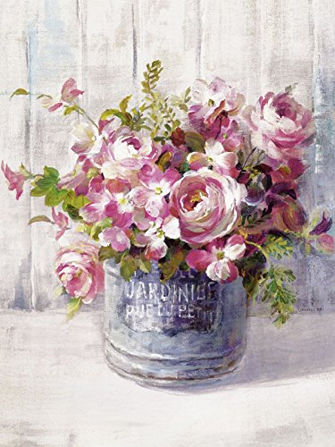 Artland Kunstdruck I Poster Danhui Nai Gartenblumen I Botanik Blumen Malerei Pink/Rosa B2ON