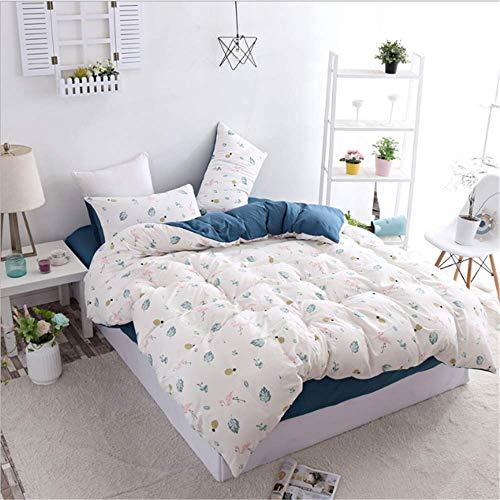 SHJIA Home Cotton Bedding Einzel-Doppelbett Twin Queen King Bettbezug Kissenbezug Flachbett oder Spannbettlaken A 220x240cm (Wasserbett Spannbettlaken Queen)