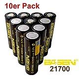 BASEN 21700Batterie 4000mAh haute puissance 30A 3,7V Batterie Flat Top. très haute capacité. Lot de 10