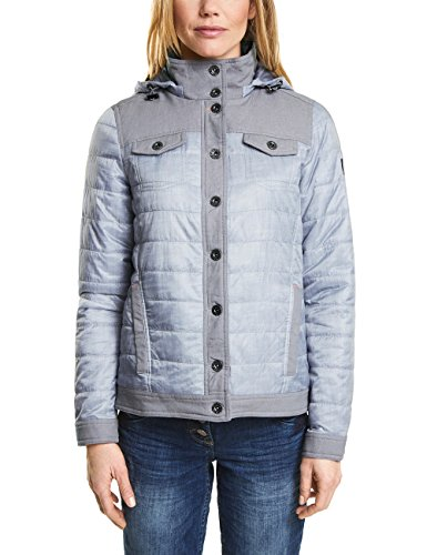 Cecil Damen Jacke 200344, Grau (Silver Grey Denim Optic 11220), X-Large