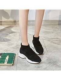 GUNAINDMXSpring/Autumn/New/Female Shoes/High/Thick Bottom/Leisure/