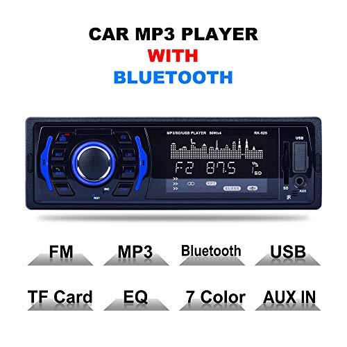 525 Usb (BEESCLOVER RK-525 MP3-Player mit SD/MMC-Kartenschlitz, MP3-Player, DC 12 V, Bluetooth, Freisprecheinrichtung, USB, AUX-Speicherkarte, MP3-Stereo-Player)