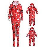Riou Weihnachten Strampler Set Kinder Baby Kleidung Schneeflocken Pullover Familie Pyjamas Nachtwäsche Outfits Set PJS Homewear für Eltern Junge Mädchen Home Schlafanzug Overall Set (160-165CM, Baby)