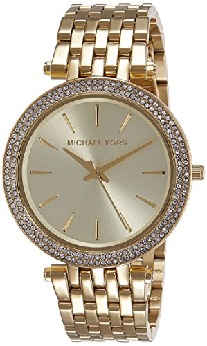 Michael Kors Damen Analog Quarz Uhr mit Edelstahl Armband MK3191