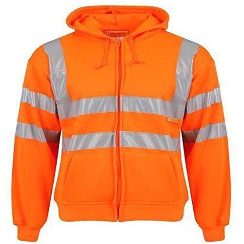Tmk alta visibilità alta visibilità pull up felpa con cappuccio maglia polo con zip felpa con cappuccio lavoro t-shirt nastro riflettente sicurezza sul lavoro hi vis parte superiore