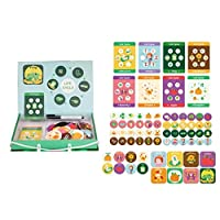 Uticon Puzzles Board Toy,Magnetic Lifecycle Frog Animal Puzzles Pen Painting Board Kids Teaching Aids Toy