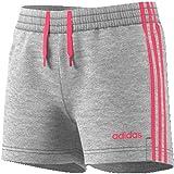 adidas Performance Essentials 3S Short Kinder grau/pink, 128