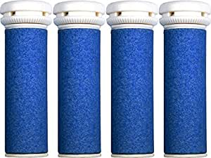 4 x Extra Coarse Blue Micro Mineral Replacement Rollers Compatible with Micro Pedi