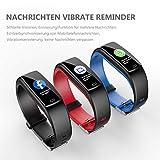 Winisok Fitness Armband mit Blutdruckmessung Pulsmesser, Fitness Tracker Uhr Wasserdicht IP67 Schrittzähler Uhr Stoppuhr Sport GPS Aktivitätstracker Schlafüberwachung Anruf SMS für Kinder Damen Männer - 4