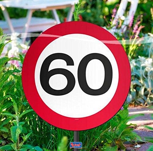 nschild für Geburtstagsparty, Verkehrsschild, 60. Geburt ()