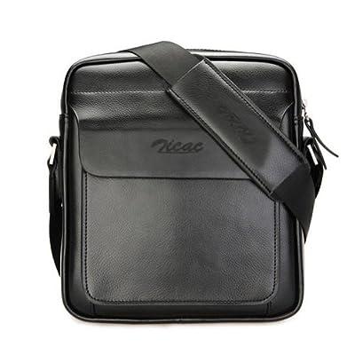 Zicac - Sac Bandoulière Bagage Sac à main Homme Sacoche portable travail en Cuir