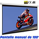Pantalla de proyeccion manual de 100""