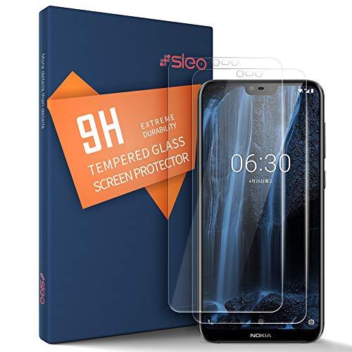 SLEO Panzerglas Schutzfolie für Nokia X6 2018/Nokia 6.1 Plus,Transparent Folie Panzerglasfolie mit [Anti-Kratz] HD Bildschirmfolie 9H Härte Kratzfest Tempered Glas - [2 Stück]