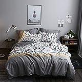 BFMBCH Vierteilige Bettdecken aus Baumwolle mit gestickten Nähten Freizeitset A 200 cm * 230 cm