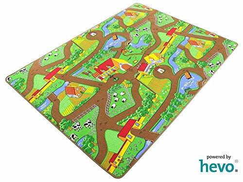 Preisvergleich Produktbild Mein Dorf HEVO ® Strassen Spielteppich | Kinderteppich 145x200 cm
